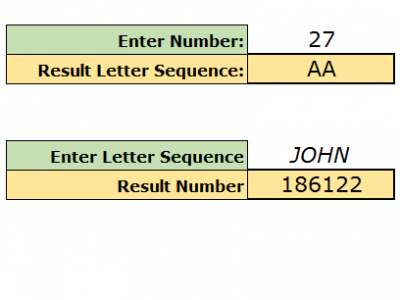 Excel VBA  Number to Letters Series Progression
