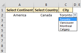 Excel Dependent Drop Drown Lists using Tables